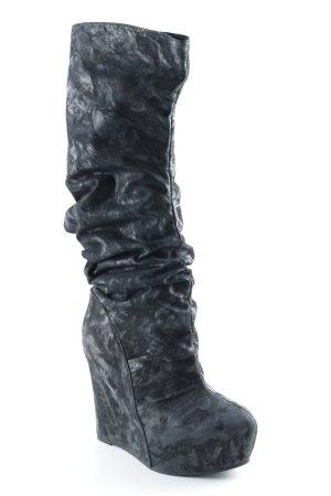 Jeffrey Campbell Botas con tacón negro-gris lavado con ácido