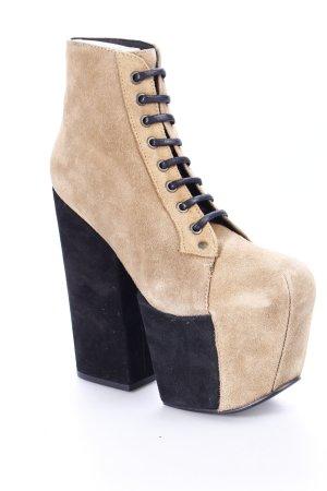 Jeffrey Campbell Ankle Boots graubraun extravaganter Stil
