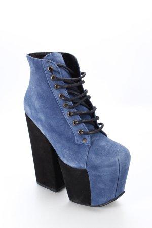 Jeffrey Campbell Ankle Boots kornblumenblau extravaganter Stil