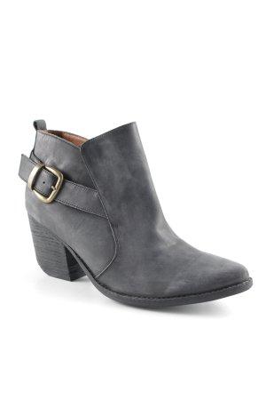 Jeffrey Campbell Ankle Boots schwarz-goldfarben minimalistischer Stil