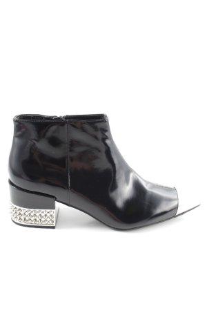 Jeffrey Campbell Ankle Boots schwarz-silberfarben Biker-Look