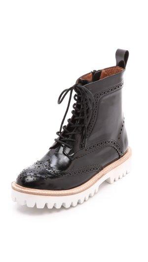 Jeffrey Campbell Boots Damen Schuhe Clash Leder schwarz 36