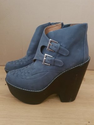 Jeffrey Campbell Busted Navy Ankleboots