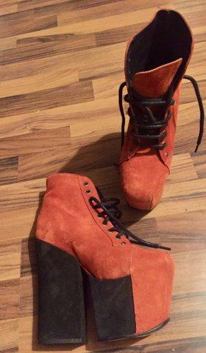 Jeffrey campbell freda plateau stiefel boots wildleder 39