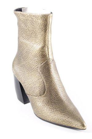 Jeffrey Campbell Halfhoge laarzen goud-zwart bruin extravagante stijl