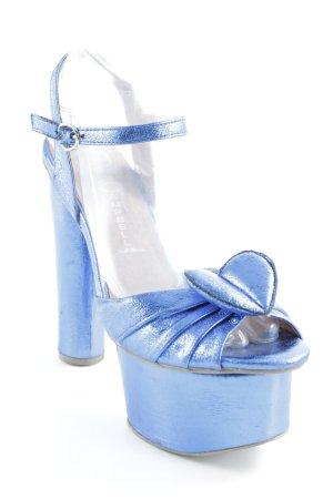 Jeffrey Campbell High Heel Sandaletten neonblau extravaganter Stil