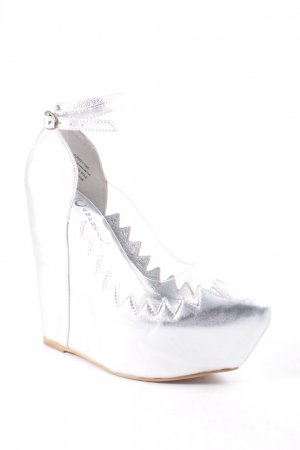 "Jeffrey Campbell Keil-Pumps ""Audrey Two"" silberfarben"