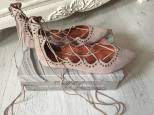 Jeffrey Campbell Lace up Ballerinas Prudence Grau Gr. 41