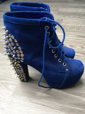 Jeffrey Campbell Lace-up Pumps silver-colored-blue