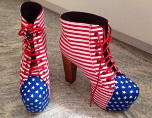 Jeffrey Campbell Lita US Flag Gr. 40 USA Flagge