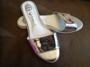Jeffrey Campbell Mules white-silver-colored