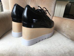 Jeffrey Campbell Plateau Blücher Größe 40 schwarz Milano Damen Schuhe