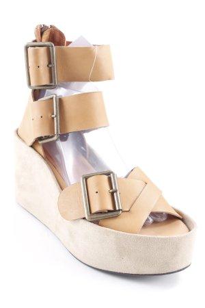 Jeffrey Campbell Plateau-Sandaletten camel-beige Street-Fashion-Look