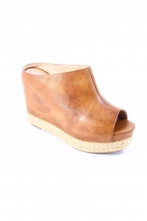 Jeffrey Campbell Platform High-Heeled Sandal cognac-coloured Boho look