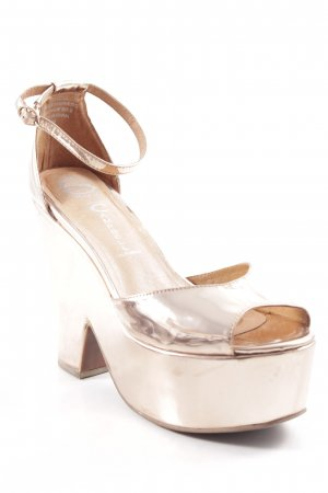 Jeffrey Campbell Platform High-Heeled Sandal rose-gold-coloured party style