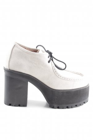 Jeffrey Campbell Plateau-Stiefeletten weiß Business-Look