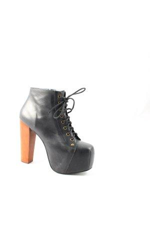 Jeffrey Campbell Plateau-Stiefeletten schwarz-dunkelorange extravaganter Stil