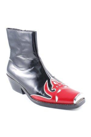 Jeffrey Campbell Reißverschluss-Stiefeletten schwarz-rot extravaganter Stil