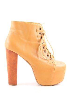 Jeffrey Campbell Aanrijglaarsjes goud Oranje extravagante stijl