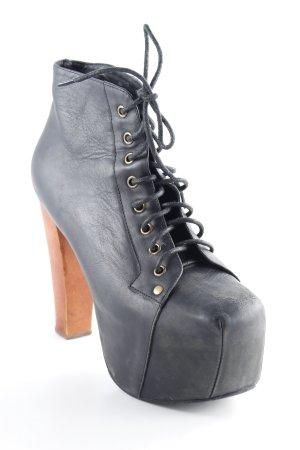Jeffrey Campbell Schnür-Stiefeletten schwarz-braun extravaganter Stil