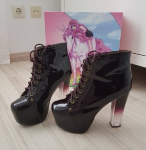 Jeffrey Campbell Platform Booties blackberry-red