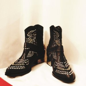 Jeffrey Campbell silver gold ankle boots