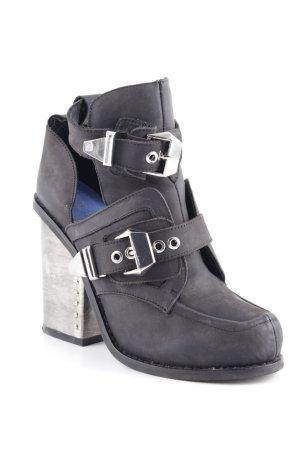 Jeffrey Campbell Zapatos Informales negro-color plata estilo extravagante