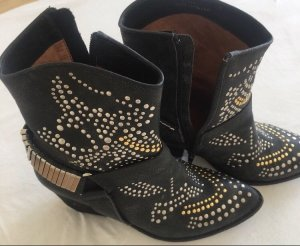 Jeffrey Campbell Western Booties dark grey-black leather