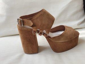 Jeffrey Campbell Platform High-Heeled Sandal camel-khaki