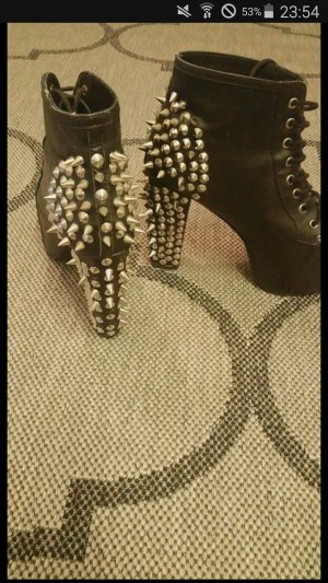 Jeffrey champbell Größe 39 Nieten schwarz silber