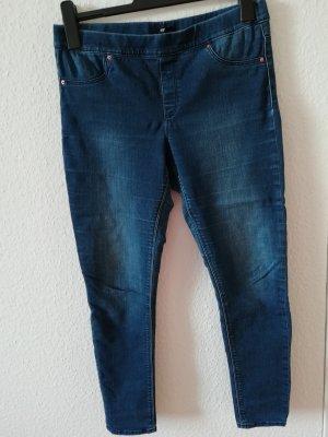 H&M Jegging bleu foncé coton