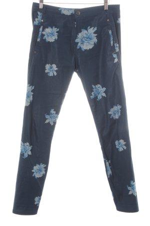 Fiveunits Jeggings dunkelblau Blumenmuster Boho-Look