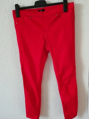 H&M Jeggings red cotton