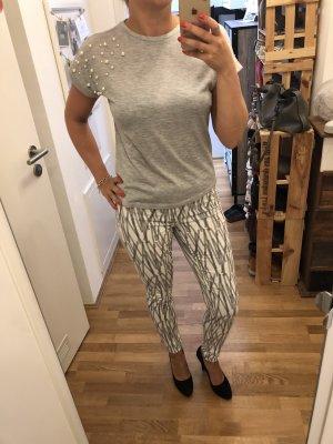 Jeggings in weiß grau