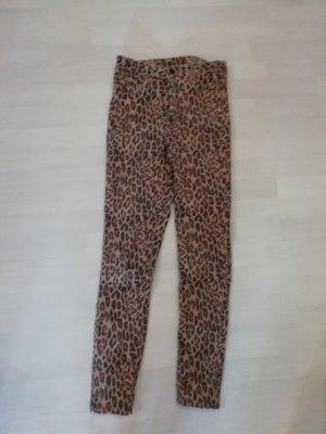 Jeggings Jeans Denim Leo Animal Röhre Slim Fit Skinny Highwaist