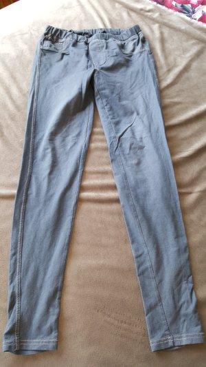 Jeggings Leggings Jeanslook hellgrau S 36 38