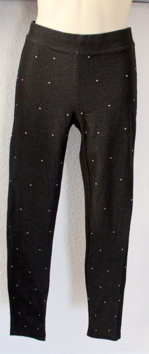 Ann Christine Jeggings black-silver-colored