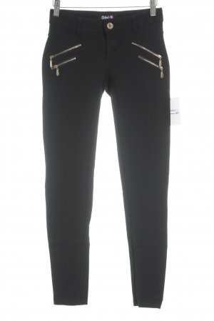Jeggings black-gold-colored casual look