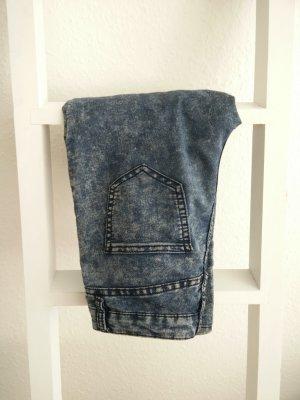Jeggins, 80er, Jeans-Look, ausgewaschen, used-look