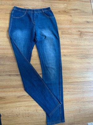 Jegging bleuet-bleu acier coton