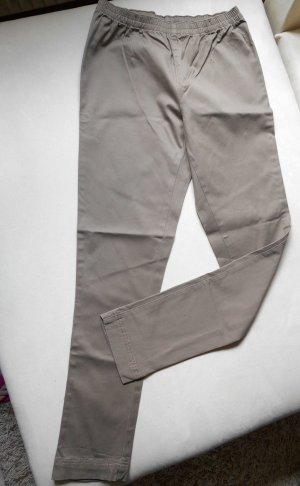 Jeggings khaki-grey brown mixture fibre