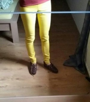 Pieces Jeggings amarillo