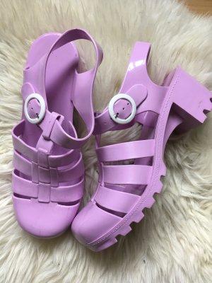 Jelly Shoes 39 Flieder Sandalen Schuhe Sommer Trend