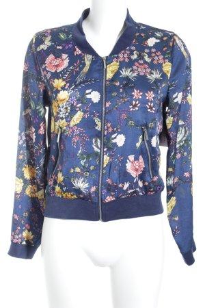 Jennifer Taylor Blusenjacke dunkelblau Blumenmuster extravaganter Stil