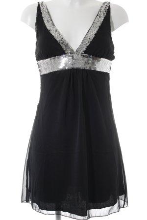 Jennifer Taylor Minikleid schwarz-silberfarben Party-Look
