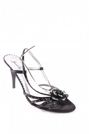 Jennika Strapped High-Heeled Sandals black-silver-colored elegant