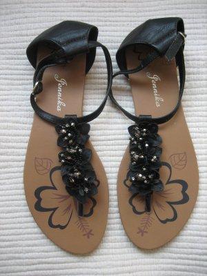 jennika suesse sandalen schwarz neu gr. 38
