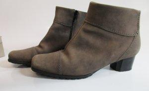 Jenny Ara 8 Größe 42 Stiefel Leder Ankle Boots Schlamm Braun Luftpolster Biker Schuhe Western Kurzstiefel