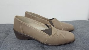 ara Slip-on Shoes sand brown-ocher leather