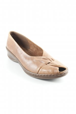 Jenny by ara Bailarinas con tacón con punta abierta coñac-marrón claro